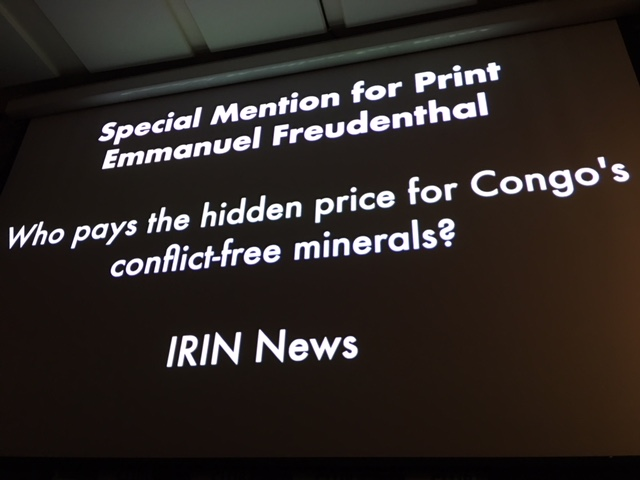 Special mention for my article on conflict minerals